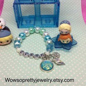 8x frozen bracelets custom name toddler pearls